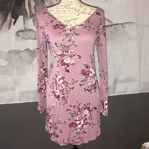Pink rose flower dress